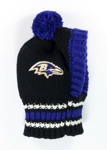 NFL Knit Pet Hat - Ravens