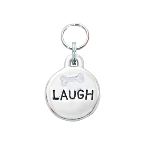 Laugh Pet ID Tag with Bone