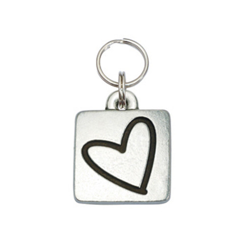 Heart Square Pet ID Tag