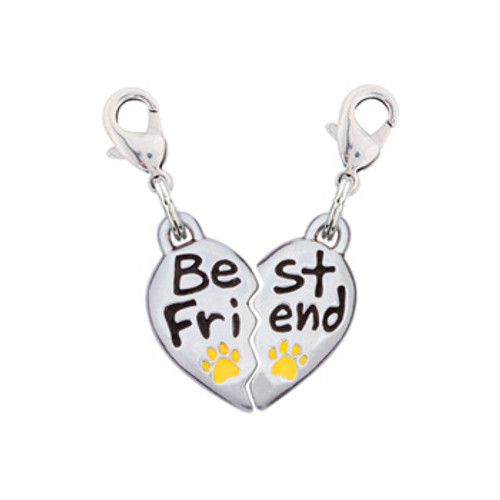 Rockin Doggie Best Friend Heart 2 Charms