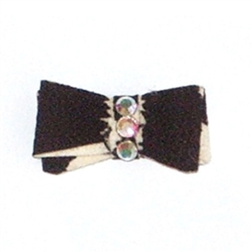 Zebra Recycled Ultra Suede Hair Bows
