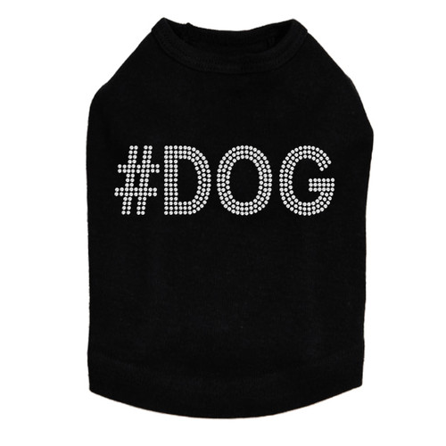 #DOG - Rhinestone - Dog Tank - Black
