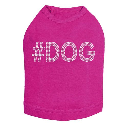 #DOG - Rhinestone - Dog Tank - Fuchsia