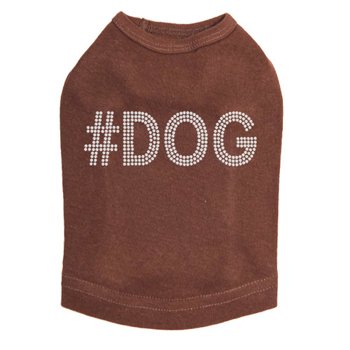 #DOG - Rhinestone - Dog Tank - Brown