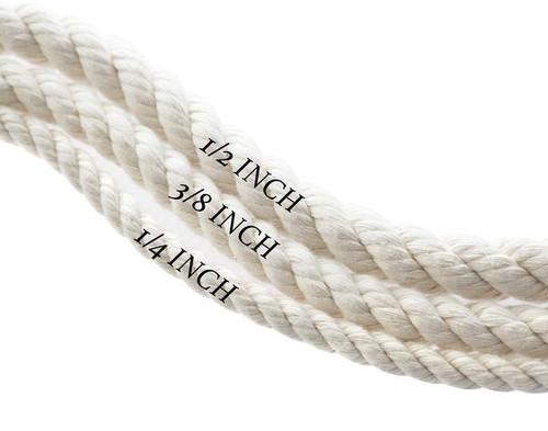 Natural White Dog Leash - Cream Hemp Twine