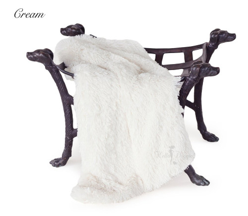 Luxury Shag Blankets - Cream