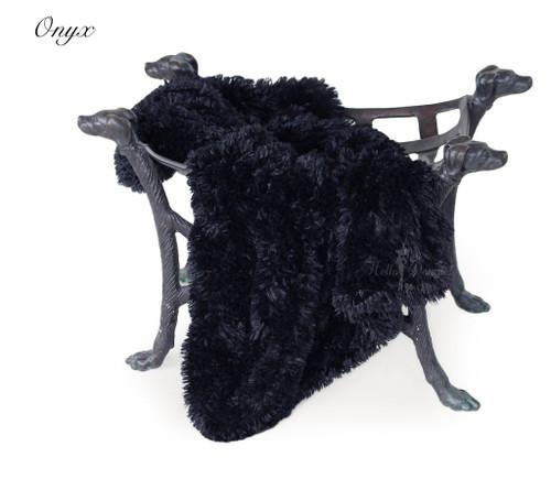Luxury Shag Blankets - Onyx