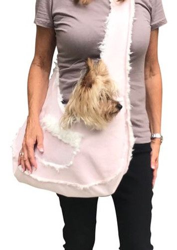 Boho Sling in Light Pink Bonded Micro Suede