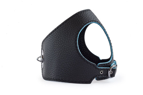 The Black Leather Dog Harness