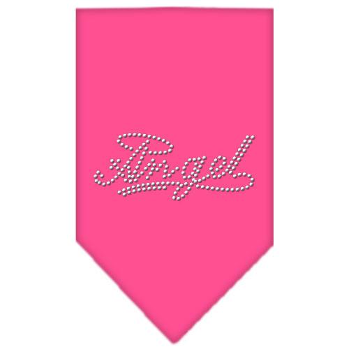 Angel Rhinestone Bandana - Bright Pink