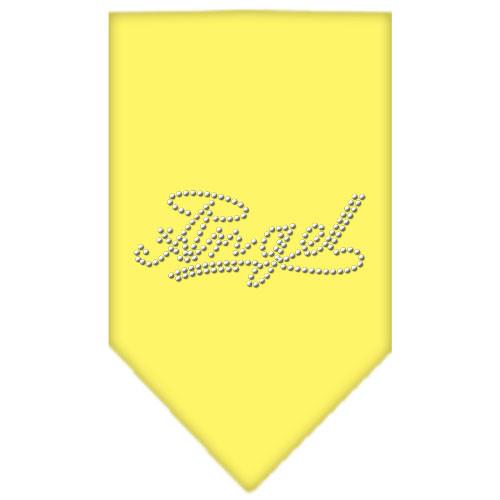 Angel Rhinestone Bandana - Yellow