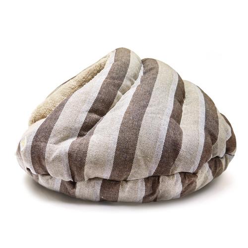 Burger Bed Brown Stripes