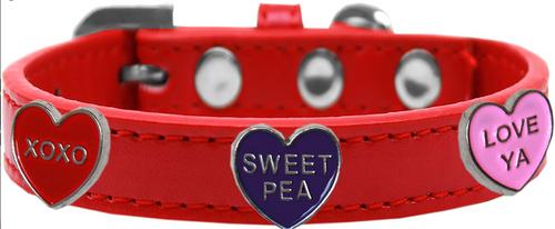 Conversation Hearts Widget Dog Collar