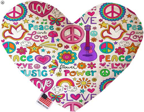 Hippy Love Heart Dog Toy