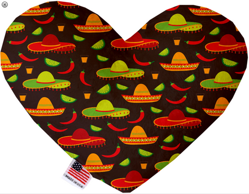 Sombreros Heart Dog Toy