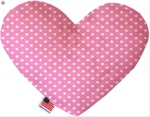 Pink Polka Dots Heart Dog Toy