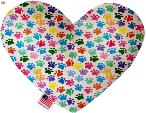 Confetti Paws Heart Dog Toy