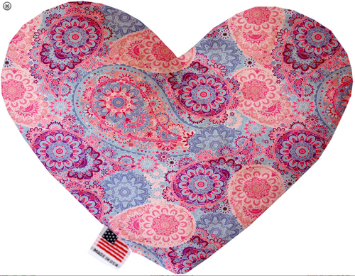 Pink Bohemian Heart Dog Toy