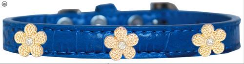 Gold Flower Widget Croc Dog Collar