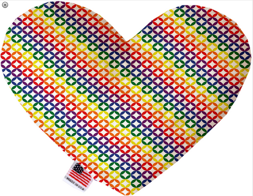 Rainbow Bright Diamonds Heart Dog Toy