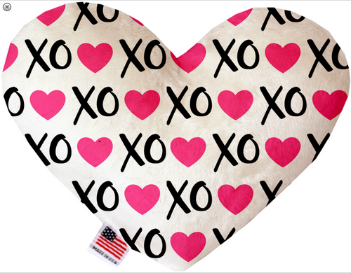 Pink XOXO Heart Dog Toy