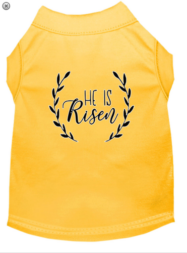 He Is Risen Screen Print Dog Shirt