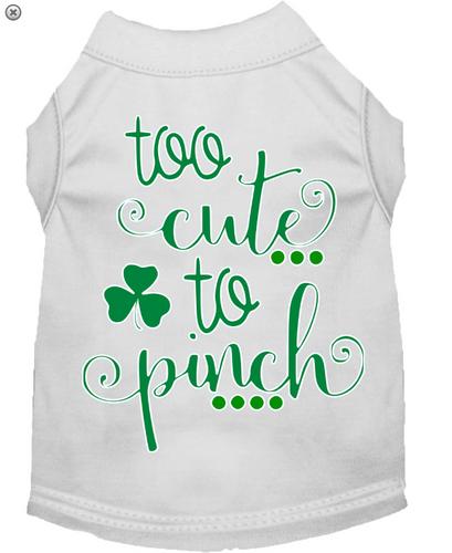 Too Cute to Pinch Screen Print Dog Shirt