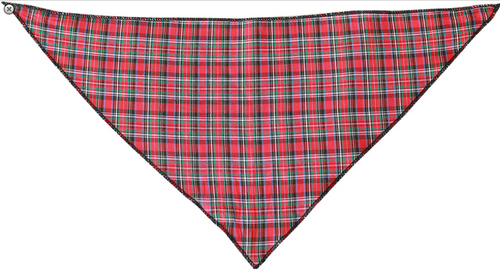 Red Plaid Tie-On Pet Bandana