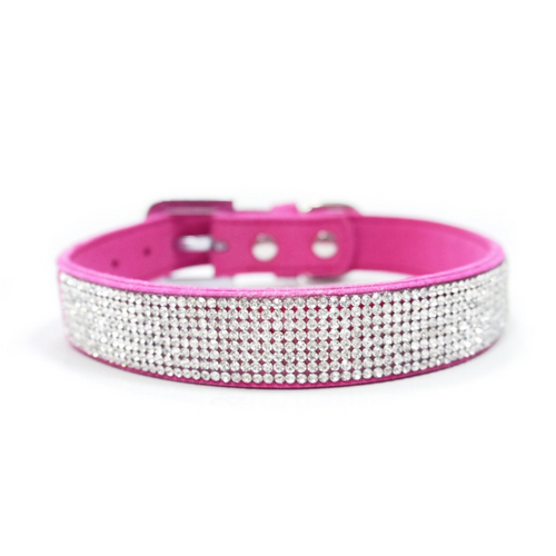 VIP Bling Collar Fuchsia