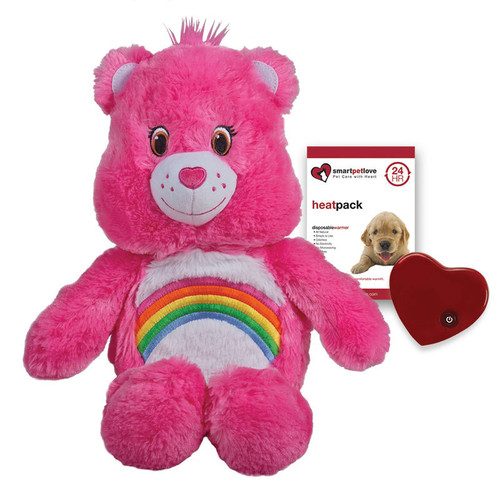 """Smart Pet Love Care Bear Tender with Heartbeat and Warmth - Pink """"Cheer"""""""