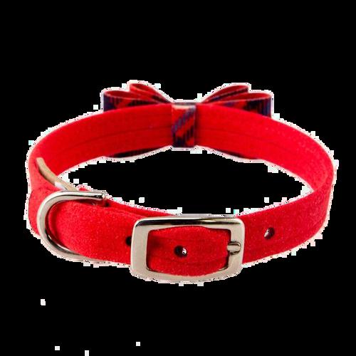 Scotty Collar Furberry Red Plaid Big Bow Collar 2
