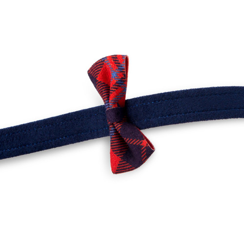 Scotty Furberry Blue and Red Plaid Bow Tie Dog Leash 2