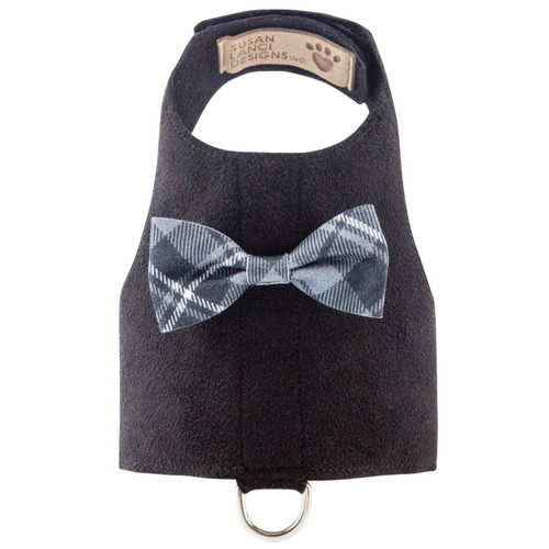 Scotty Furberry Charcoal Plaid Bow Tie Bailey Harness