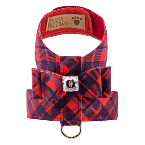 Scotty Furberry Tinkie Red and Blue Plaid Bow Harness