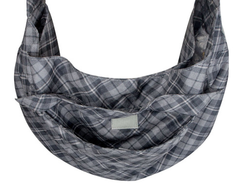 Scotty Furberry Charcoal Plaid Cuddle Carrier 3