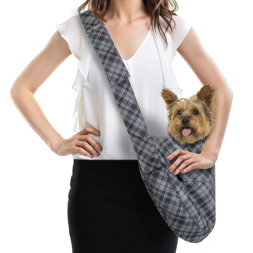 Scotty Furberry Charcoal Plaid Cuddle Carrier