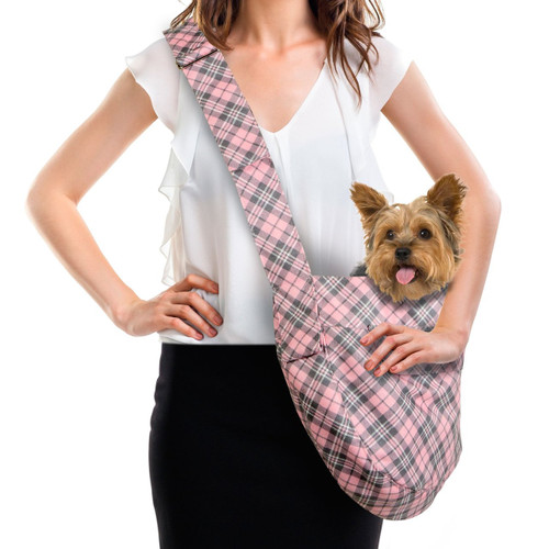 Scotty Furberry Pink Plaid Cuddle Carrier