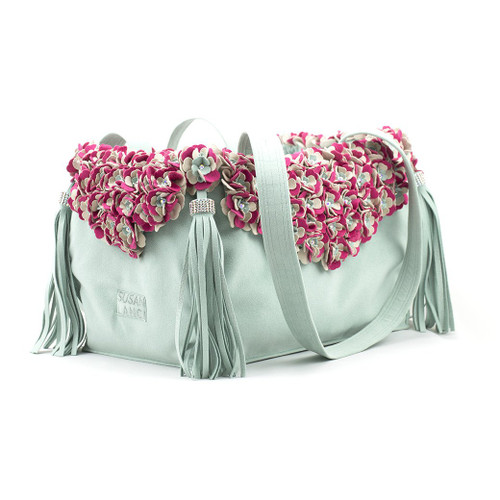 Garden Flower Mint Luxury Carrier Purse