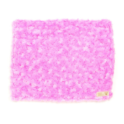 Rose Pink Curly Sue Blanket