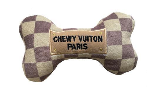 Checker Chewy Vuiton Bone Toy 3