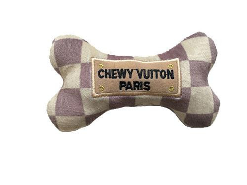 Checker Chewy Vuiton Bone Toy 4