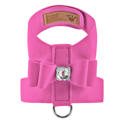 Luna Bowtique Tinkie Rose Pink Big Bow Harness 2