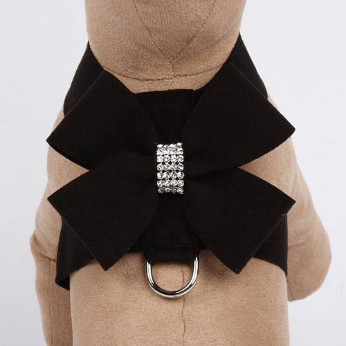 Luna Bowtique Tinkie Black Nouveau Bow Harness