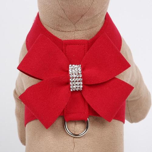 Luna Bowtique Tinkie Red Nouveau Bow Harness