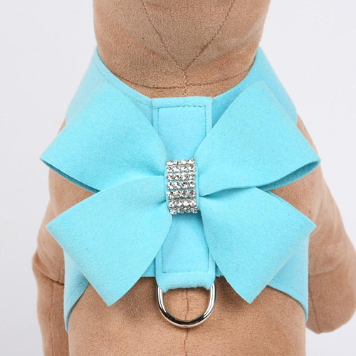 Luna Bowtique Tinkie Tiffinye Blue Nouveau Bow Harness