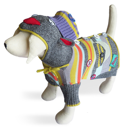 Sock Monkey Multi Color Sweater