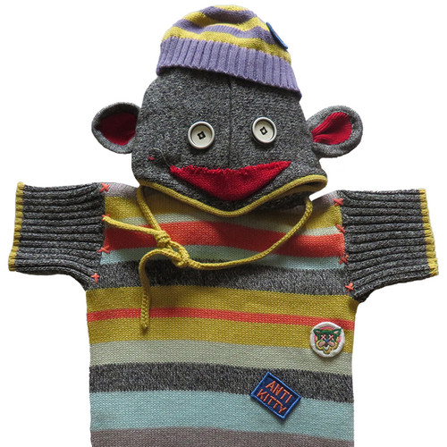 Sock Monkey Multi Color Sweater 2