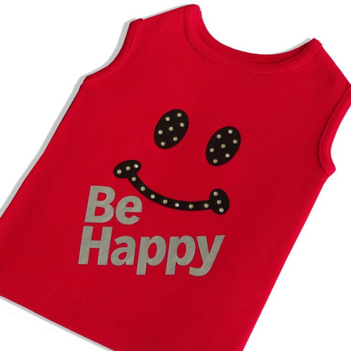 Red Be Happy Tee
