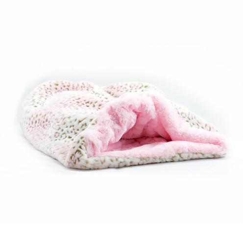 Pink Lynx Cuddle Sak with Pink Shag Lining