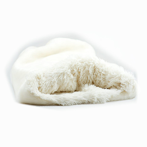 Cream Cuddle Sak with Cream Shag Lining 2